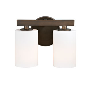 Glendale Sienna Bronze Two-Light Bath Fixture
