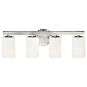 Glendale Satin Nickel Four-Light Bath Fixture
