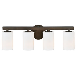 Glendale Sienna Bronze Four-Light Bath Fixture