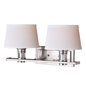 Ritz Satin Nickel Two-Light Vanity