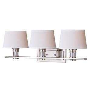 Ritz Satin Nickel Three-Light Vanity