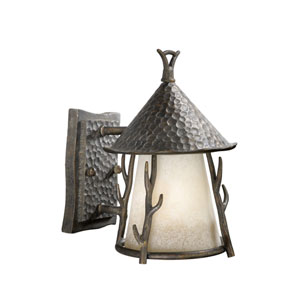 Woodland Autumn Patina 7-Inch Outdoor Wall Light