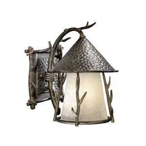 Woodland Autumn Patina 9-Inch Outdoor Wall Light
