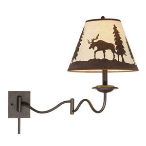 Yellowstone Burnished Bronze 12-Inch Swing Arm Wall Light