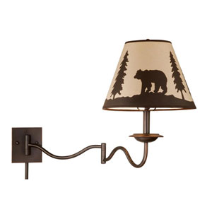 Bozeman Burnished Bronze 12-Inch Swing Arm Wall Light