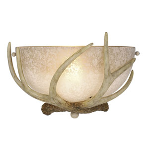 Lodge Noachian Stone Wall Sconce W/ French Scavo Glass