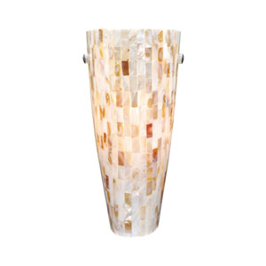 Milano Satin Nickel Wall Sconce W/ Mosaic Shell Glass
