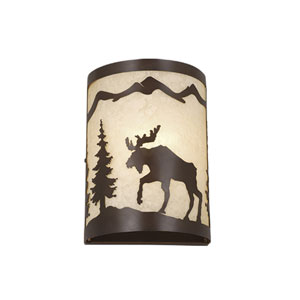Yellowstone Burnished Bronze 8-Inch Wall Sconce