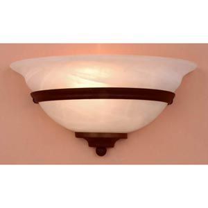 Da Vinci Bronze Half Moon Wall Sconce