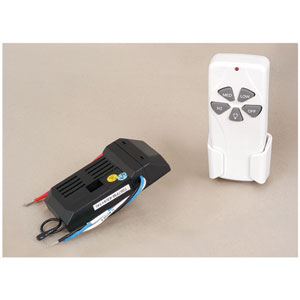 White One-Inch Ceiling Fan Remote Control Kit