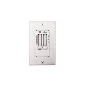 White 4-Speed Ceiling Fan and Light Wall Control