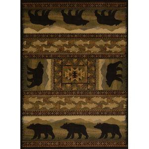 Affinity Black Bears Multicolor Rectangular: 7 Ft 10 In x 10 Ft 6 In Rug