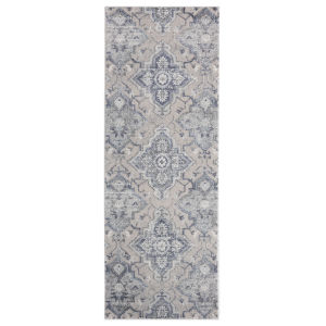 Cascades Blue Rectangular 2 Ft. 7 Inch x 7 Ft. 2 Inch Rug