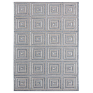 Cascades Blue and Gray Rectangular 7 Ft. 10 Inch x 10 Ft. 6 Inch Rug