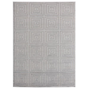 Cascades Silver Rectangular 7 Ft. 10 Inch x 10 Ft. 6 Inch Rug