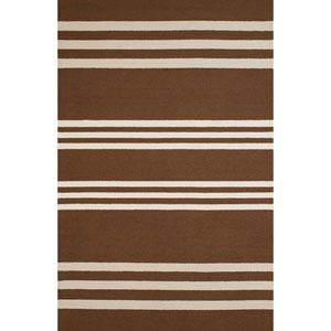 Signature Parallel Chocolate Rectangular: 7 Ft. 10 In. x 9 Ft. 10 In. Rug