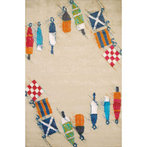Set Sail Sand Rectangular: 5 Ft. 3 In. x 7 Ft. 2 In. Rug