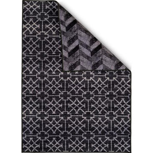 Encore Cubic Wave Black Rectangular: 1 Ft. 8 In. x 2 Ft. 8 In. Reversible Rug