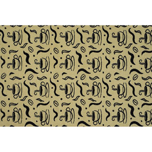 Encore Kitchen Steaming Coffee Rectangular: 1 Ft. 8 In. x 2 Ft. 7 In. Reversible Rug