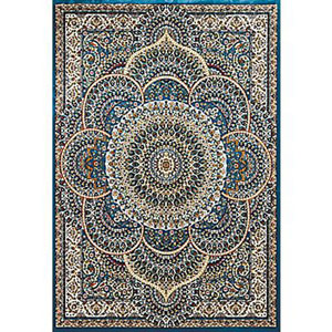 Antiquities Sarouk Cerulean Rectangular: 5 Ft. 3 In x 7 Ft. 2 In. Rug
