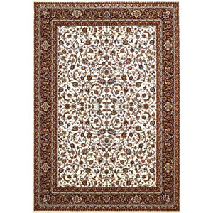 Antiquities Isphahan Ivory Rectangular: 5 Ft. 3 In x 7 Ft. 2 In. Rug