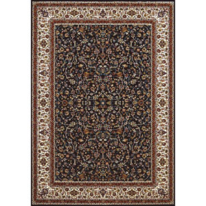 Antiquities Isphahan Navy Rectangular: 5 Ft. 3 In x 7 Ft. 2 In. Rug