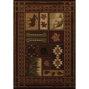 Contours Cabin Chalet Toffee Rectangular: 5 Ft 3 In x 7 Ft 6 In Rug