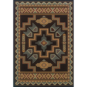 Designer Contours Talon Smoke Blue Rectangular: 2 Ft 7 In x 4 Ft 2 In Rug