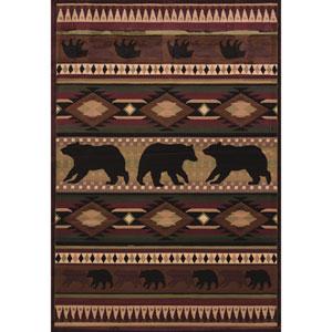 Designer Contours Native Bear Toffee Rectangular: 2 Ft 7 In x 4 Ft 2 In Rug