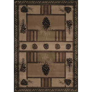 Designer Contours Pine Barrens Beige Rectangular: 7 Ft 10 In x 10 Ft 6 In Rug