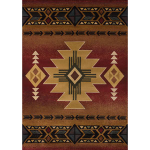 Genesis Arizona Crimson Rectangular: 1 Ft 10 In x 3 Ft Rug