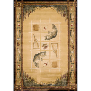 Genesis Lakeside Natural Rectangular: 7 Ft 10 In x 10 Ft 6 In Rug