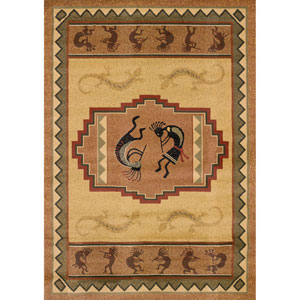 Genesis Ancient Icon Natural Rectangular: 5 Ft 3 In x 7 Ft 6 In Rug