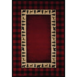 Genesis Buffalo Red Runner: 1 Ft 11 In x 7 Ft 4 In Rug
