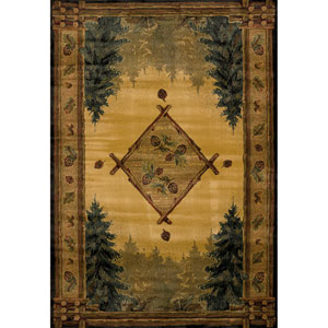 Genesis Forest Trail Multicolor Rectangular: 1 Ft 10 In x 3 Ft Rug