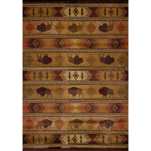 Genesis Tatonka Multicolor Rectangular: 1 Ft 10 In x 3 Ft Rug