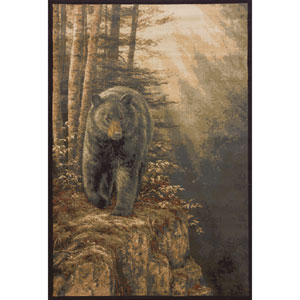 Wild Wings Rocky Black Bear Rectangular: 3 Ft. 11 In. x 5 Ft. 3 In.