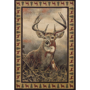 Wild Wings Majestic White Tail Rectangular: 5 Ft. 3 In. x 7 Ft. 6 In.