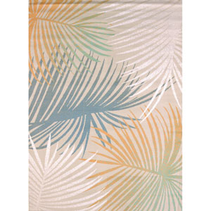 Regional Concepts Palm Leaves Multicolor Rectangular: 5 Ft 3 In x 7 Ft 2 In Rug