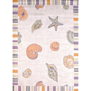 Regional Concepts Sand and Shells Natural Rectangular: 2 Ft 7 In x 3 Ft 11 In Rug