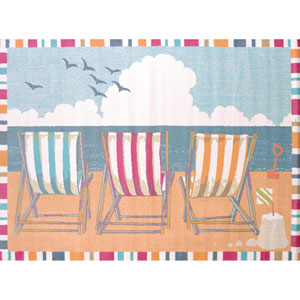 Regional Concepts Seaside Chairs Multicolor Rectangular: 2 Ft 7 In x 3 Ft 11 In Rug