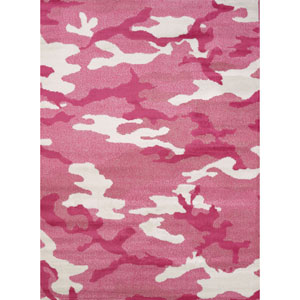Regional Concepts Pink Camo Rectangular: 1 Ft 10 In x 3 Ft Rug