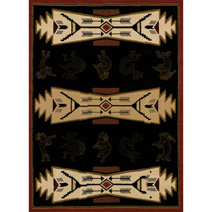 Trade Winds Black Rectangular: 1 Ft. 11-Inch x 7 Ft. 2-Inch  Rug
