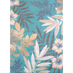 Modern Textures Sea Garden Blue Rectangular: 7 Ft 10 In x 10 Ft 6 In Rug