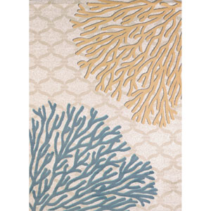 Modern Textures Coral Reef Harvest Rectangular: 7 Ft 10 In x 10 Ft 6 In Rug
