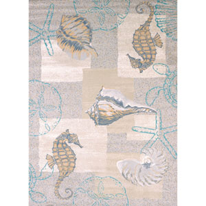 Modern Textures Mystic Sea Natural Rectangular: 7 Ft 10 In x 10 Ft 6 In Rug