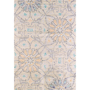 Marquee Floral Stone Rectangular: 5 Ft 3 In x 7 Ft 6 In Rug