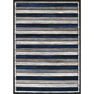 Studio Painted Denim Blue Rectangular: 1 Ft. 10 In. x 3 Ft. Rug