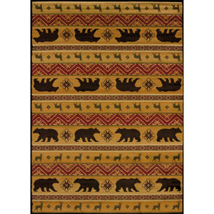 Affinity Nordic Bear Multicolor Rectangular: 5 Ft 3 In x 7 Ft 2 In Rug