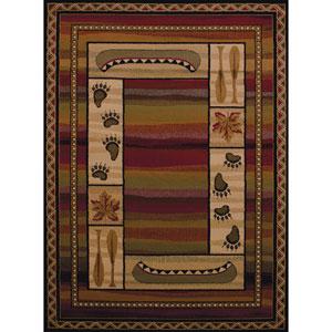 Affinity Canoe Sunset Multicolor Rectangular: 7 Ft 10 In x 10 Ft 6 In Rug